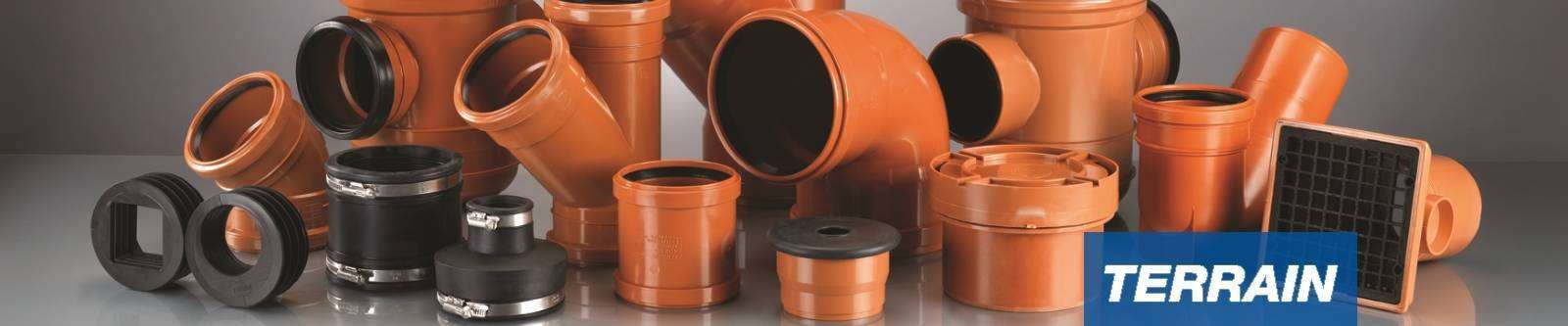 Terrain underground PVC drainage system for commercial buildings